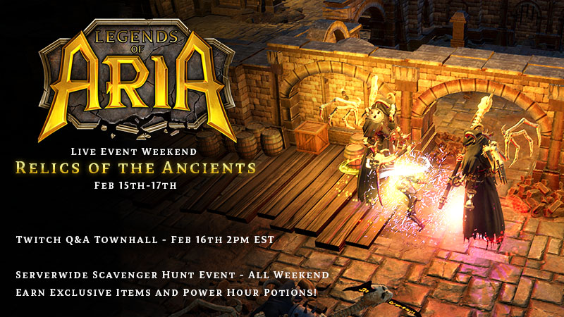 Live Event Weekend: Relics of the Ancients