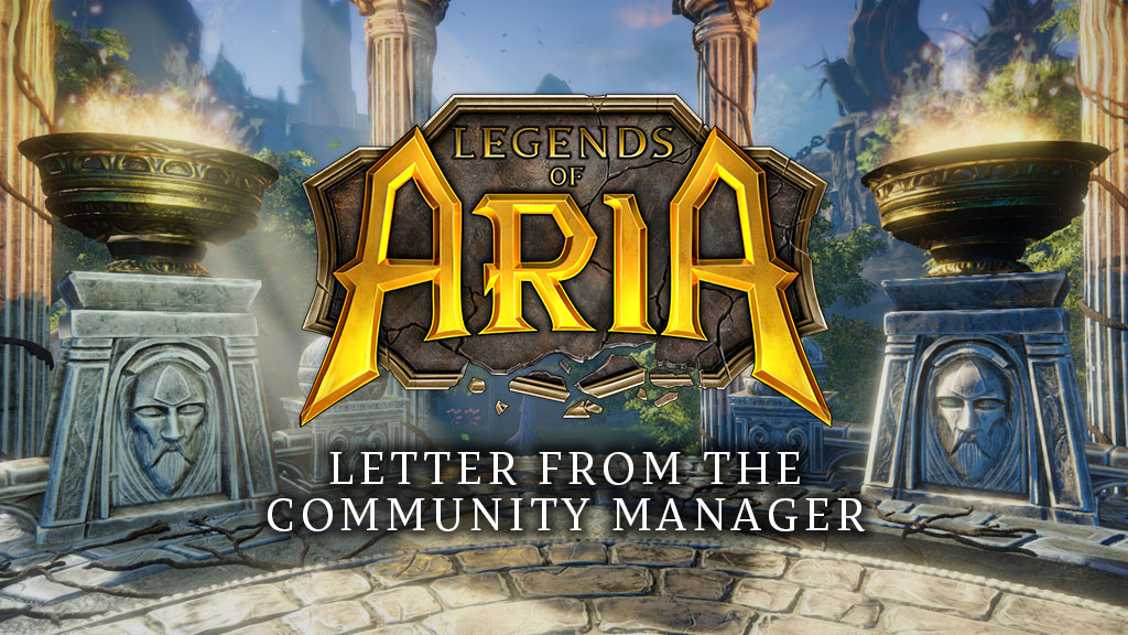 Letter From the Community Manager – 9/27/2019