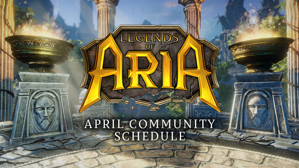 Letter From the Community Manager – April Community Schedule