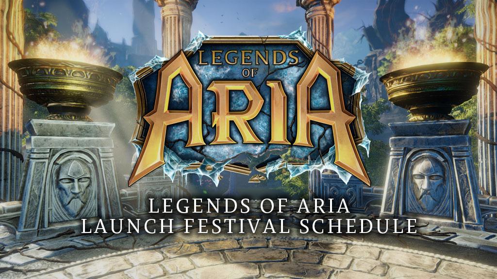 Legends of Aria Launch Festival Schedule